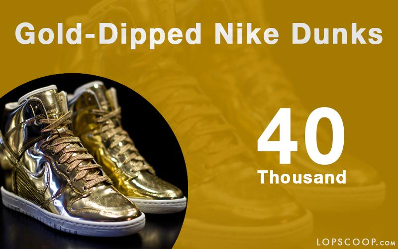 nike dunks dipped in gold